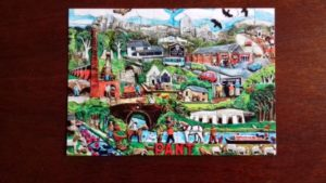 Pant Memorial Hall Artwork Postcard