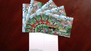 Pant Memorial Hall Armistice Artwork Postcards
