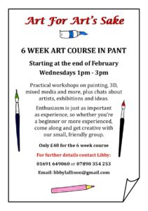 Art for Art's sake - a six week varied art course