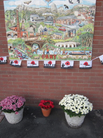 artwork with poppies and flowers